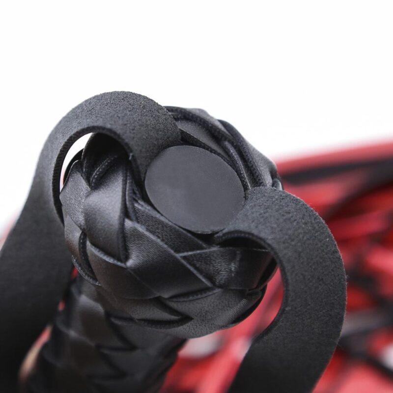 Leder BDSM Flogger Rot Schwarz