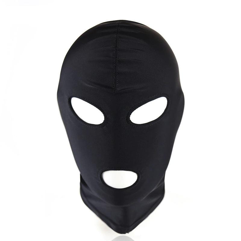 BDSM Maske mit Augen und Mund Löcher