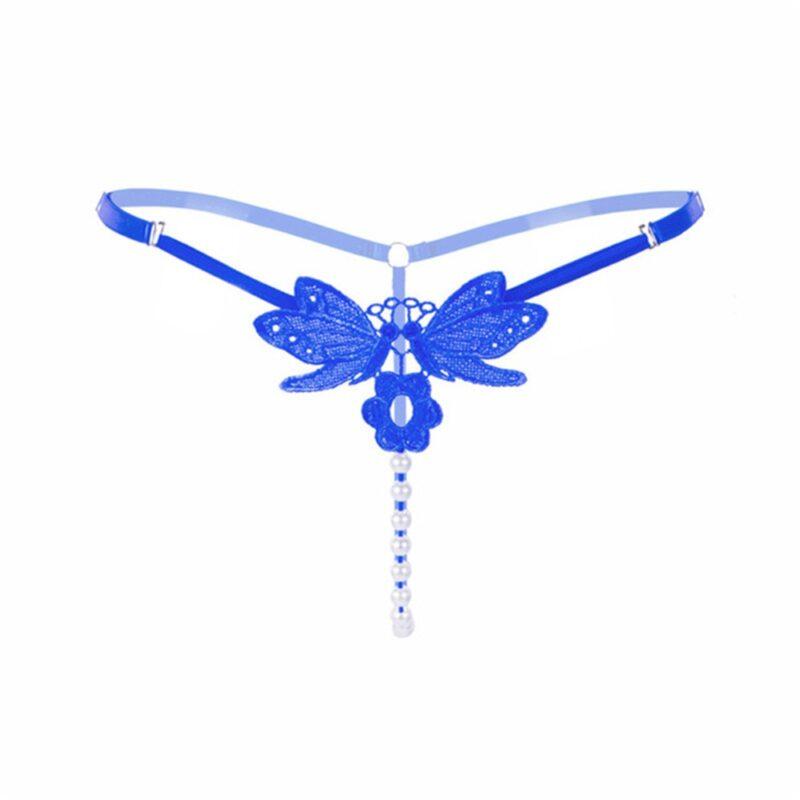 Perlen String blau