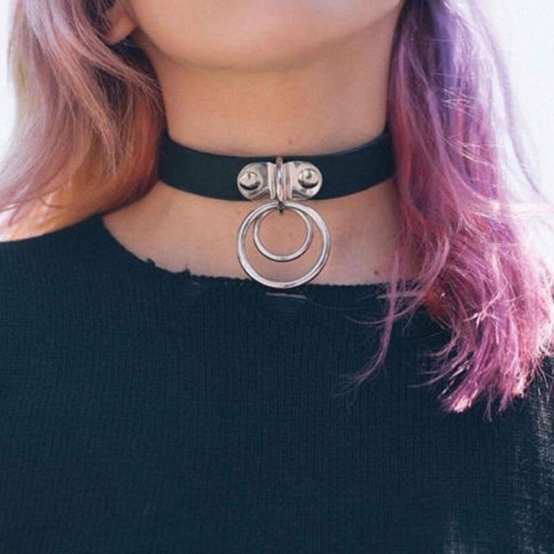 Weisse BDSM Choker Halsband