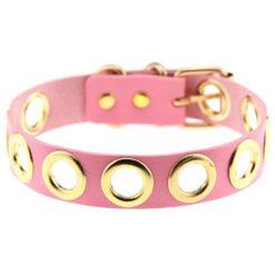 Pink Kunstleder Halsband