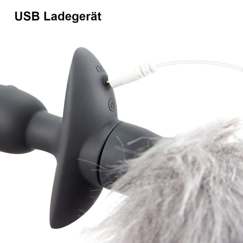 Anal Plug Fuchsschwanz Vibrator mit Fernbedienung