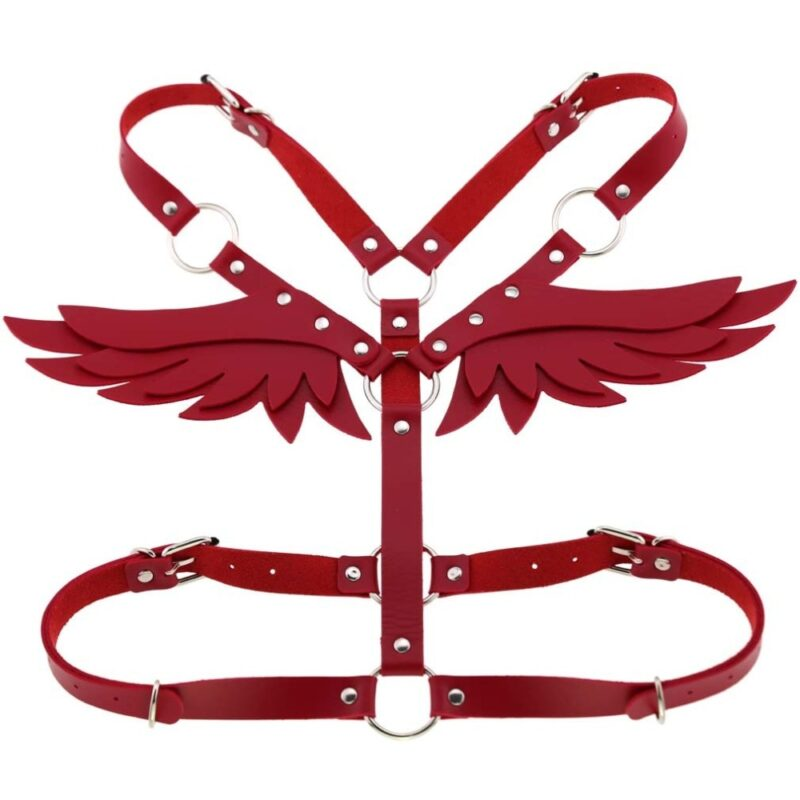 BDSM Leder Harness mit Flügel